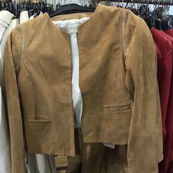 Suede jacket, $250 (was $855)