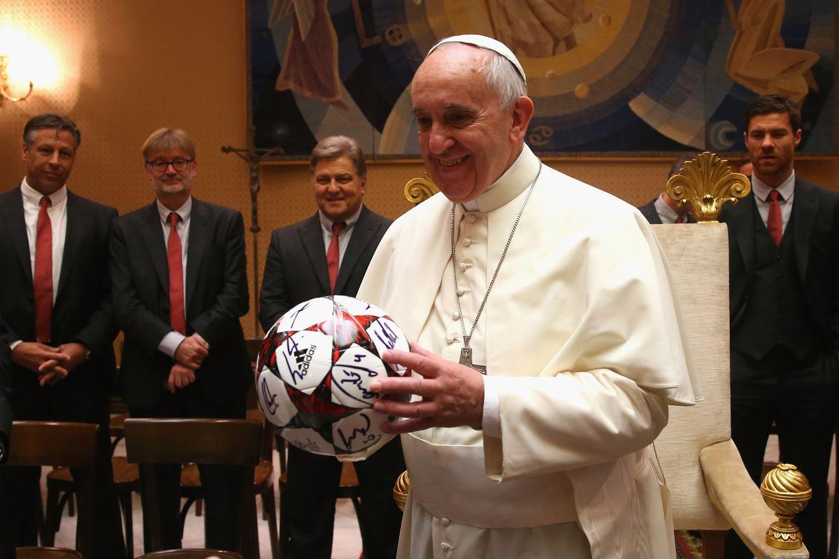 Wrong football Pontif!