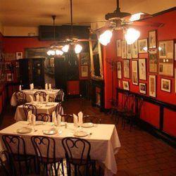 """The Mystery Room at Antoine's was used during Prohibition.  Diners would go through a door in the ladies' restroom to a secret room and exit with a coffee cup full of booze (in spite of the Blue Laws).  When asked where th booxe came from: """"It's a mystery"""