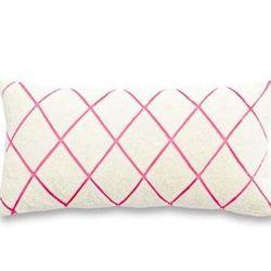 """<a href=""""http://www.katespade.com/beaded-trellis-pillow/291220YFC,default,pd.html?dwvar_291220YFC_color=279&start=6&cgid=bedding-bath"""">Beaded Trellis Pillow</a> $188"""