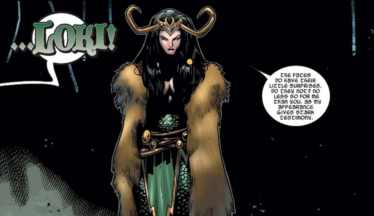 Lady Loki reveals herself to Thor for the first time.