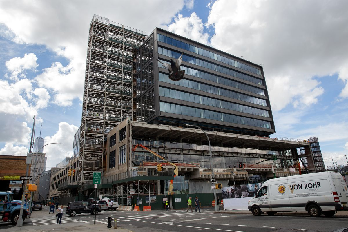Google is developing office space on Washington Street in Hudson Square, Sept. 21, 2021.