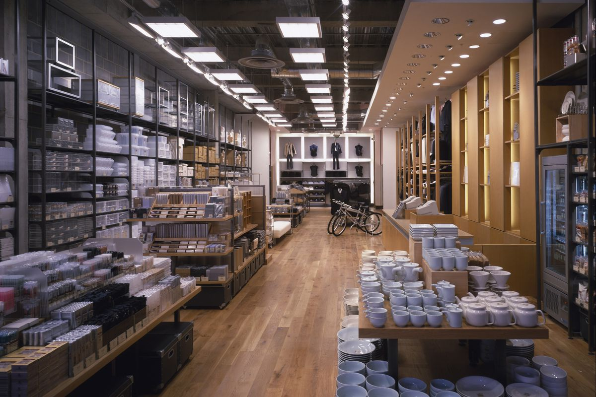 ... MUJI's reopened global flagship store in tokyo features a fruit and  vegetable market