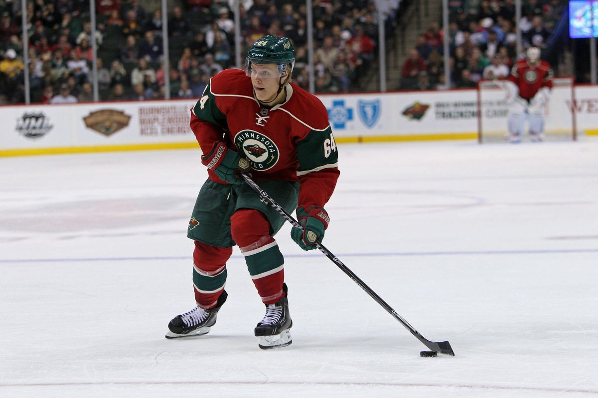 That puck needs to start finding either the top shelf or a wide-open Wild player. Preferably pretty quickly.