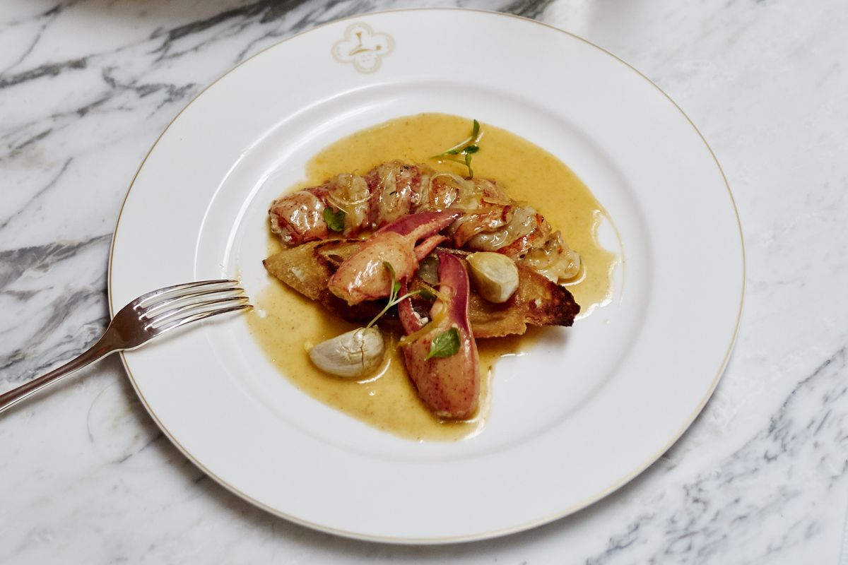 New Orleans style barbecue lobster at Louie, by chef Slade Rushing