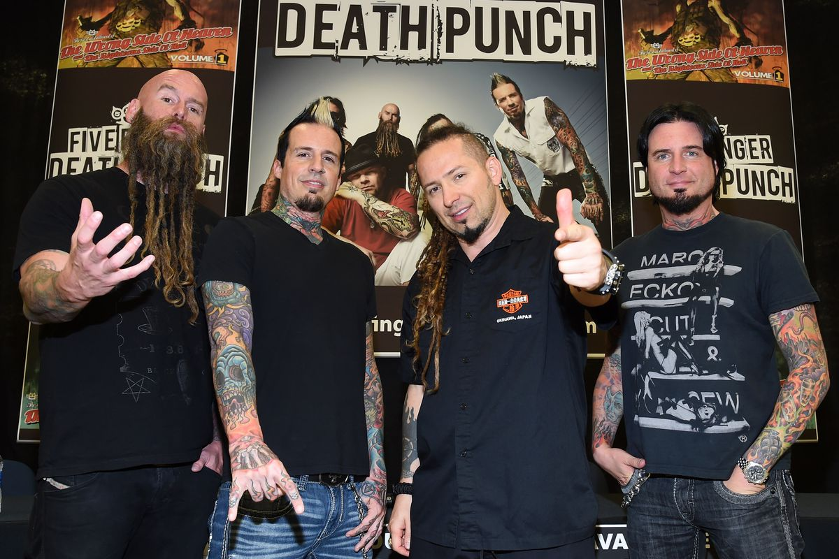Five Finger Death Punch Visits Nellis AFB To Raise PTSD Awareness