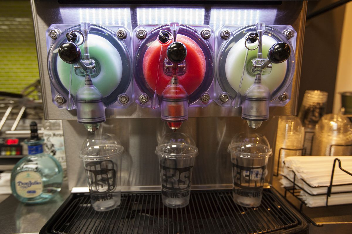 Taco Bell Cantina's Twisted Freeze machine in Chicago