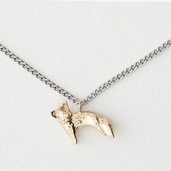"""Odette New York necklace, <a href=""""http://www.stevenalan.com/VEN_ALL_NA_VA-FOX_NECKLACE.html?dwvar_VEN__ALL__NA__VA-FOX__NECKLACE_color=BRS%2FSILV#cgid=womens-jewelry-necklaces&frmt=ajax&view=all&start=0&hitcount=57"""">$188</a> at Steven Alan"""