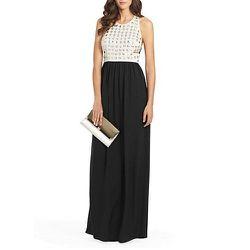 "<b>Diane von Furstenberg</b> Gidget Crystal Cutout Gown in Black/Ecru, <a href=""http://www.dvf.com/gidget-crystal-cutout-gown/D8061832N13.html?dwvar_D8061832N13_color=BLECR#cgid=cocktail"">$845</a>"