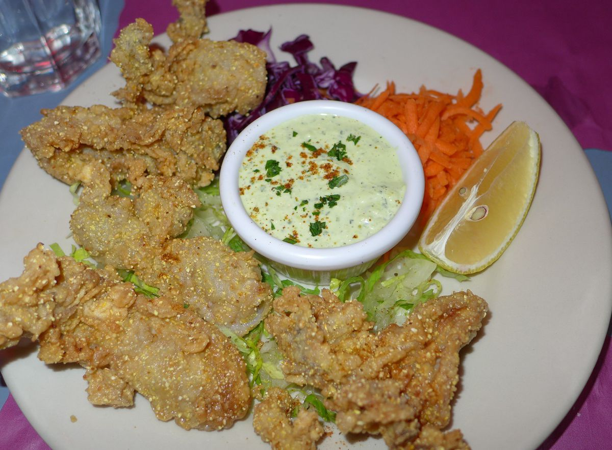 The fried oysters with remoulade at Great Jones Cafe