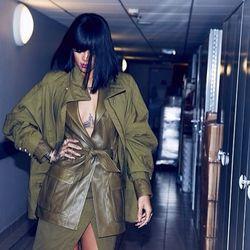 A closer look at the Balmain outfit, via Rihanna's Instagram