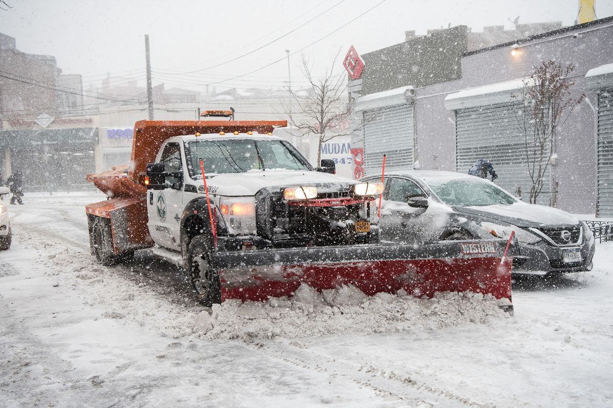 """The so-called """"bomb cyclone"""" snow storm pummeled New York City on Thursday."""