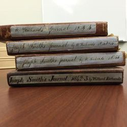 """Willard Richards kept Joseph Smith""""™s journals with help from William Clayton and others between 1841 and 1844. This volume of The Joseph Smith Papers reproduces the journal entries."""