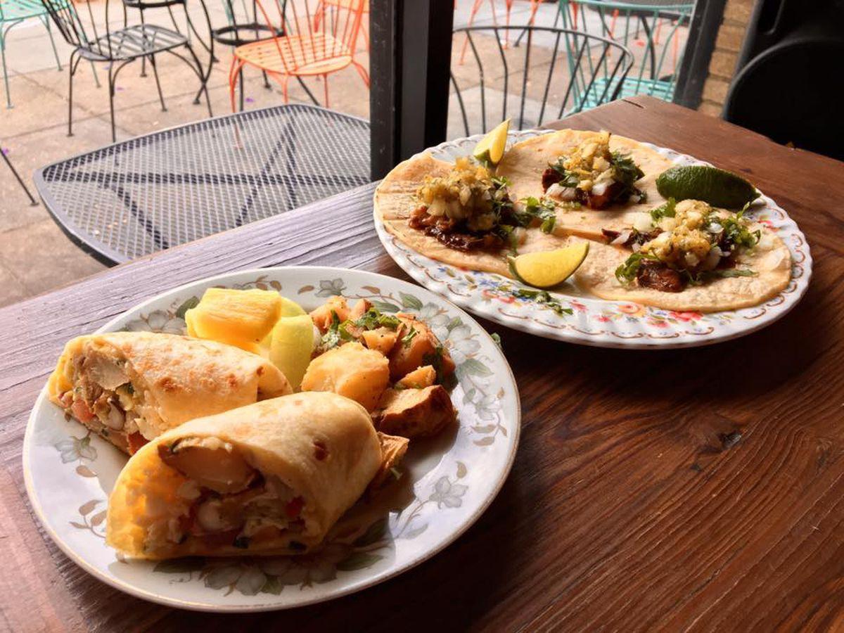 Brunch tacos in Bloomingdale.