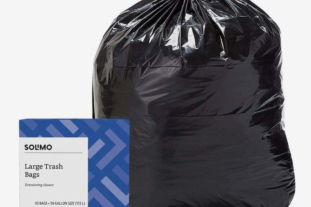 Black garbage bag.