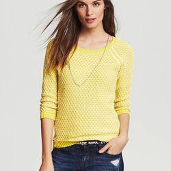 "Two-tone textured pullover, <a href=""http://bananarepublic.gap.com/browse/product.do?cid=1005487&vid=1&pid=932766002"">Banana Republic</a>, $79.50"