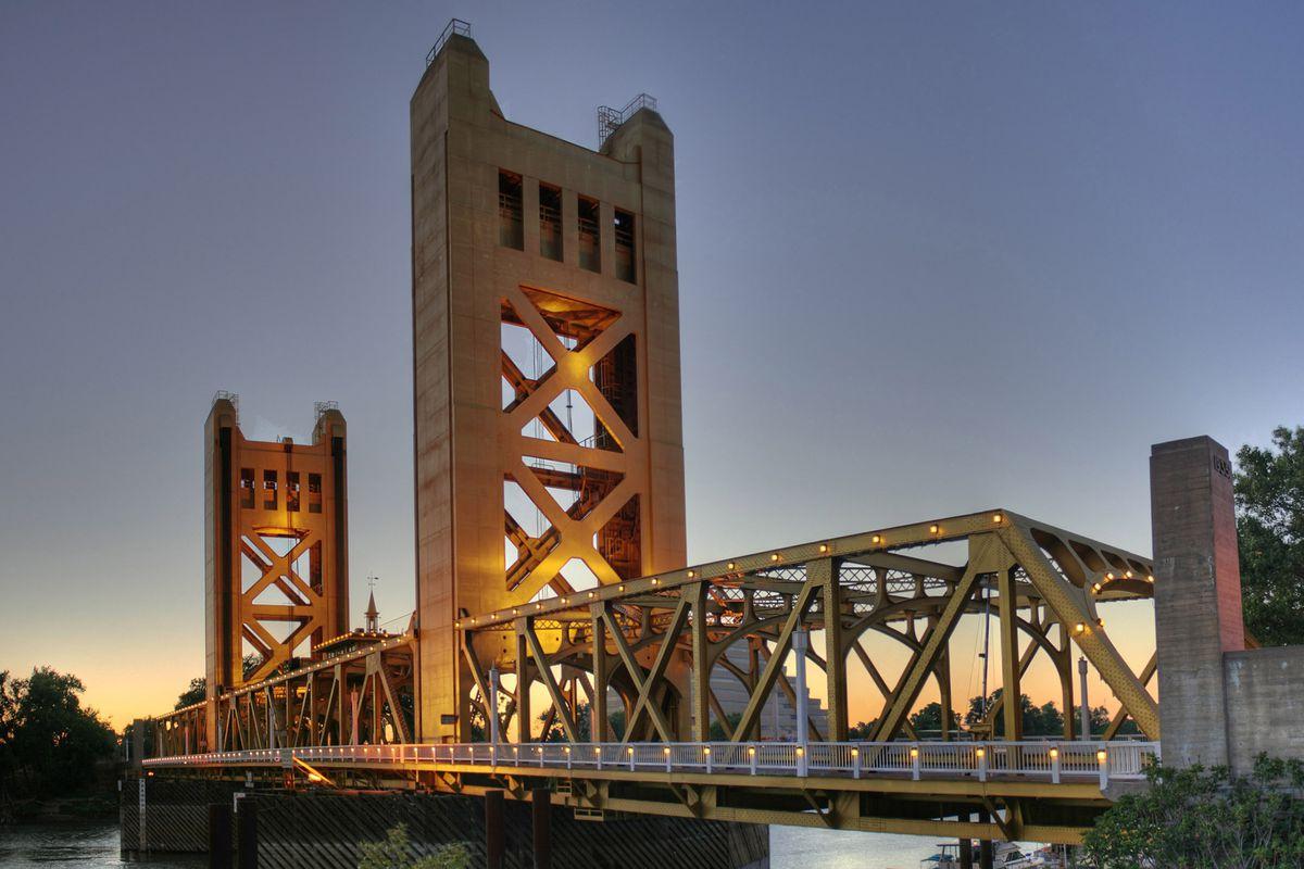 The Tower Bridge in Sacramento.