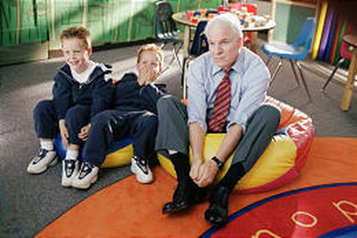 """Steve Martin gets called to the principal's office thanks to his mischievous sons in """"Cheaper by the Dozen."""""""