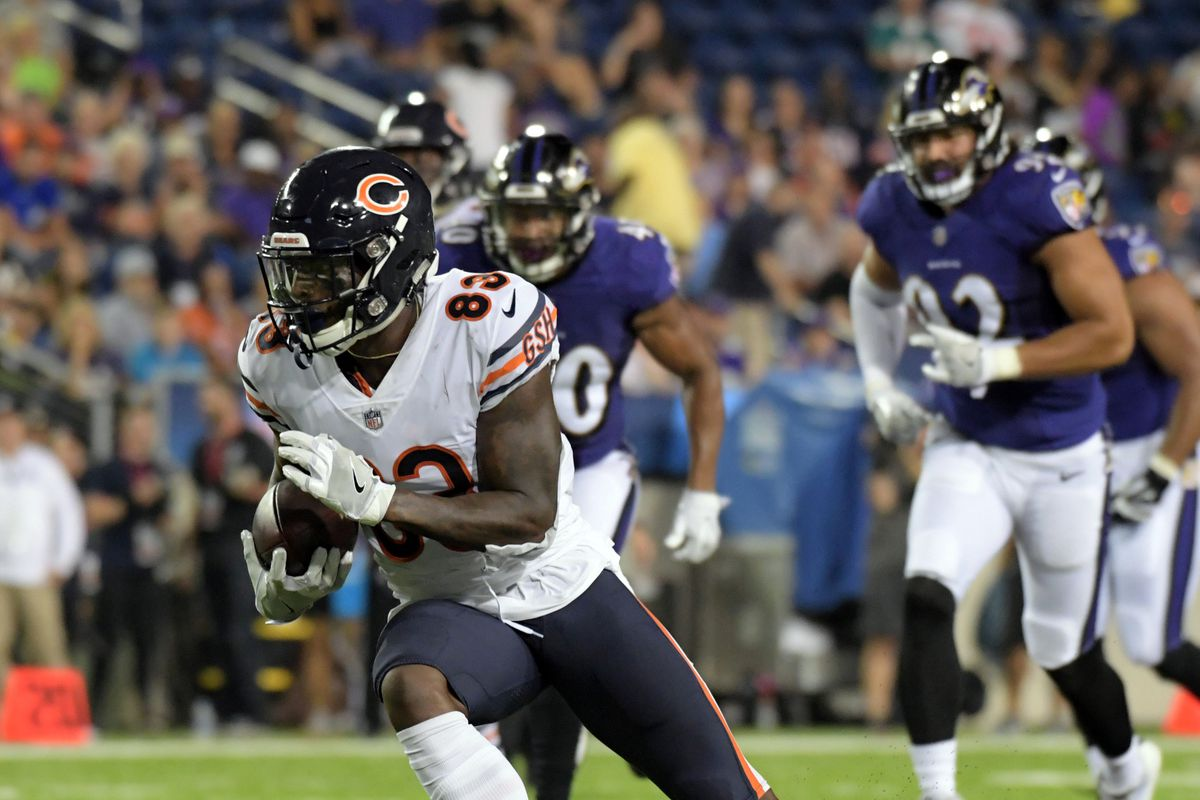 reputable site b10ae 7b2fe Bears vs Ravens game ball goes to Javon Wims - Windy City ...