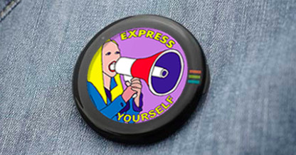This AMOLED button can apparently play GIFs from your jacket