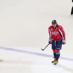 Ovechkin Yells After Power Play Goal