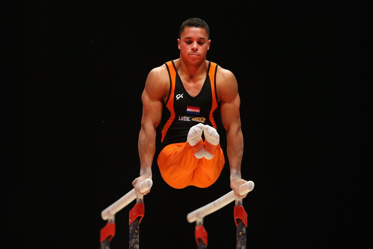 Dutch gymnast Jeffrey Wammes is one of the record openly gay 11 male Olympians.