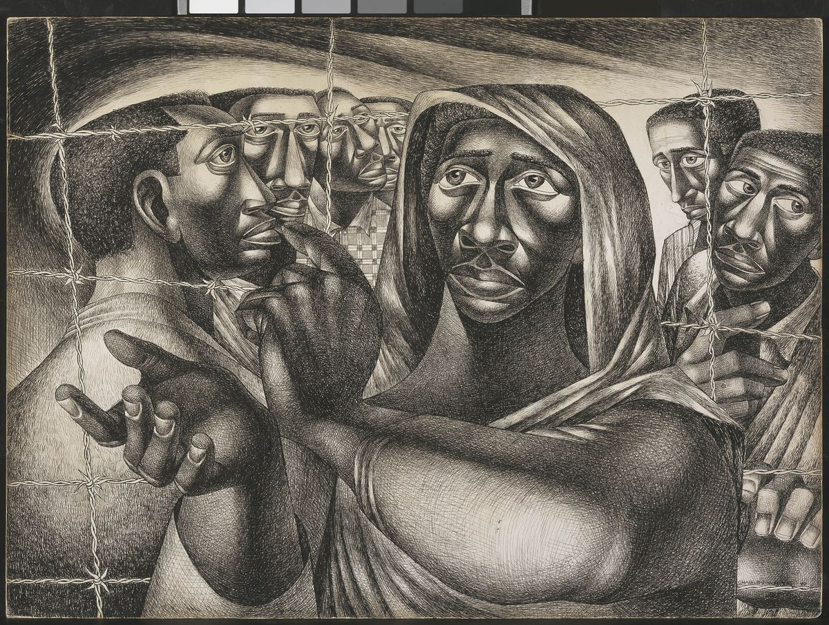 Charles White, Trenton Six, 1949. | Amon Carter Museum of American Art, Fort Worth, TX. © The Charles White Archives Inc.
