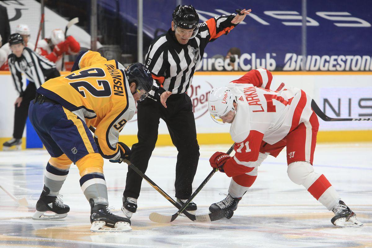 NHL: MAR 23 Red Wings at Predators