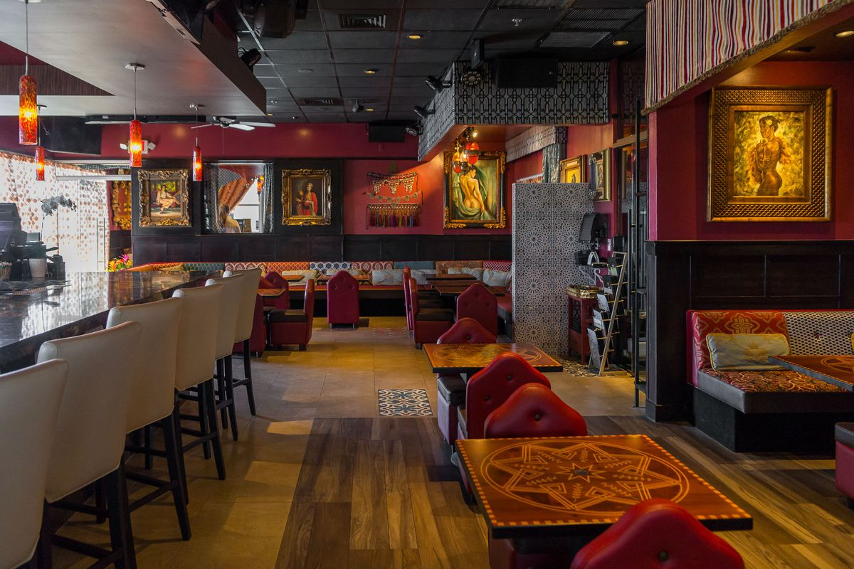 The hookah bar and lounge at Paymon's