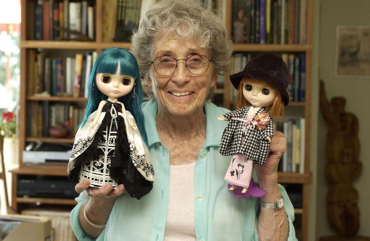 Allison Katzman with two of her Blythe dolls.