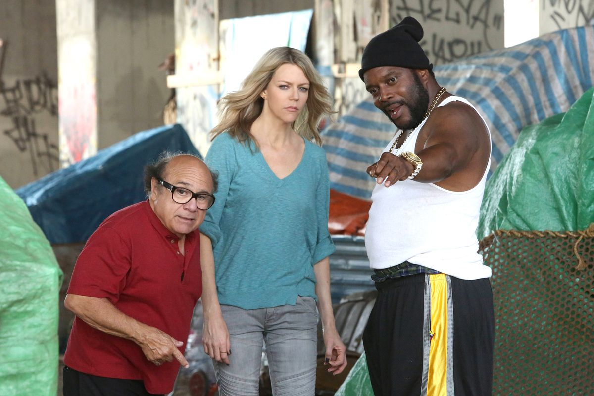 Frank (Danny DeVito) and Sweet Dee (Kaitlin Olson) consult a fellow black  person (Chad Coleman). It s ... a long story. FXX. Every Sunday ... 35f84764f813