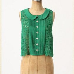 """<a href=""""http://www.anthropologie.com/anthro/product/shopsale-tops/24317018.jsp"""">Cropped lace blouse</a>, $69.95 (was $128)"""