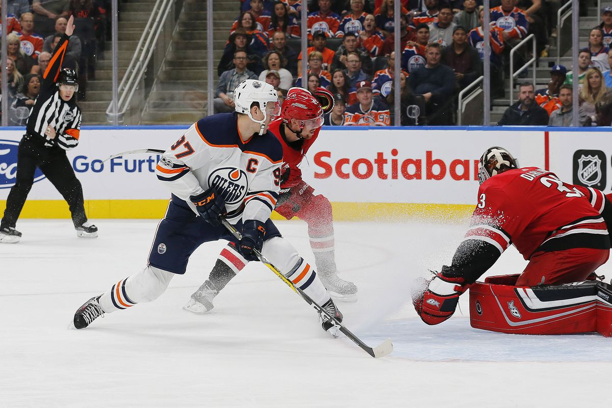 NHL: Preseason-Carolina Hurricanes at Edmonton Oilers