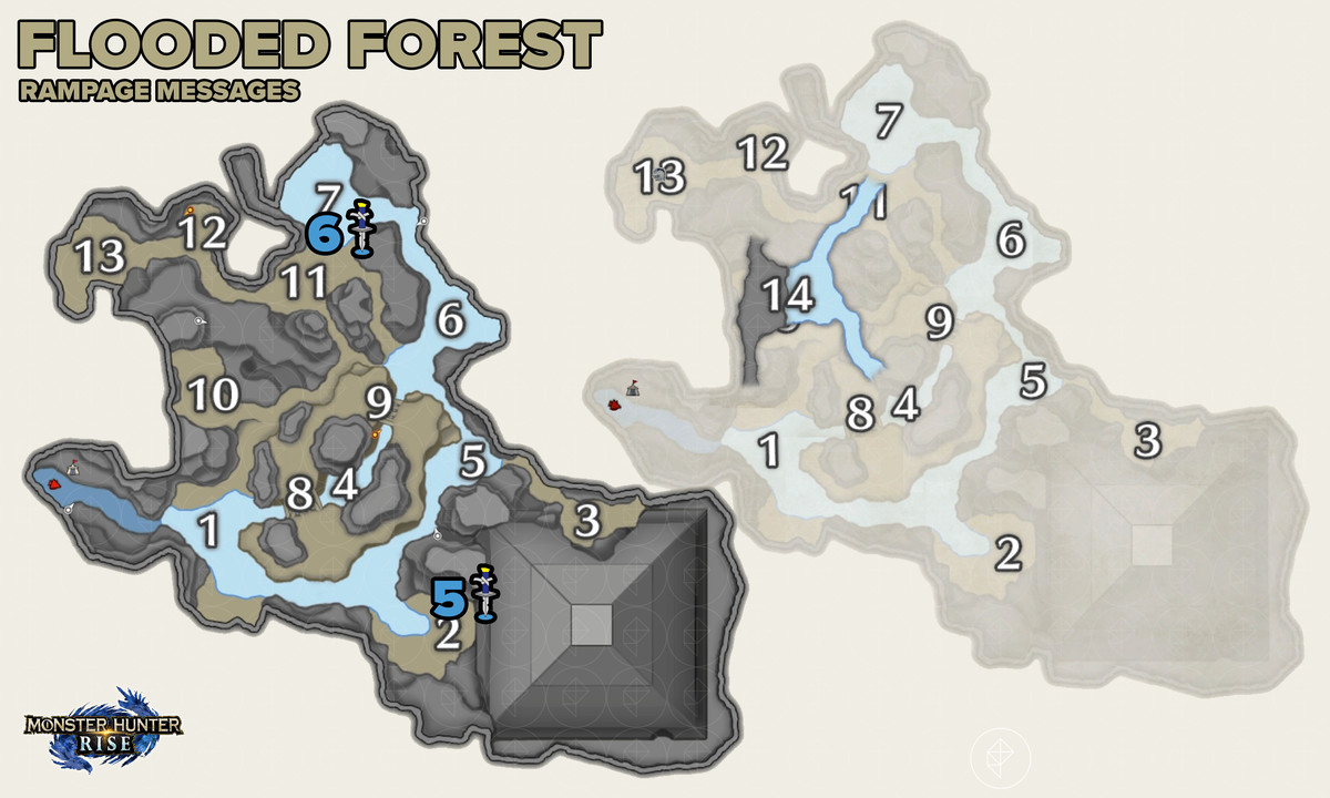 Monster Hunter Rise guide: Flooded Forest collectible rampage message locations