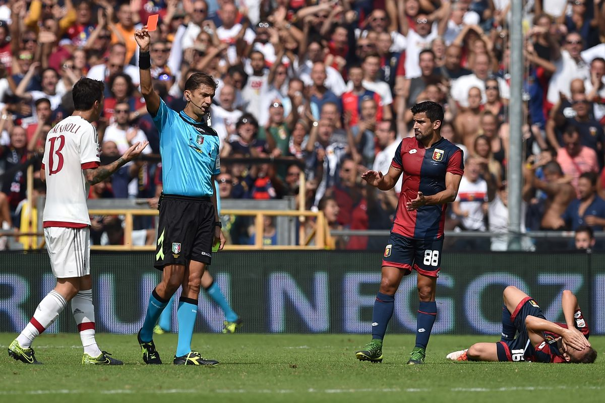 Alessio Romagnoli's red card made things worse for struggling Milan.