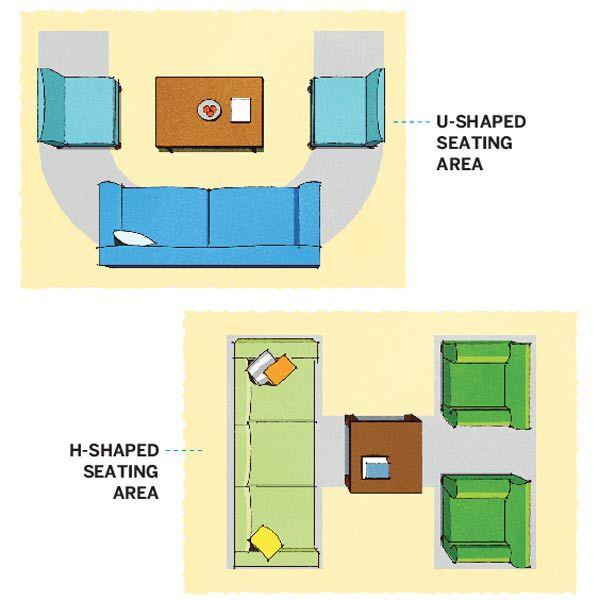 Living Room Layout Illustration