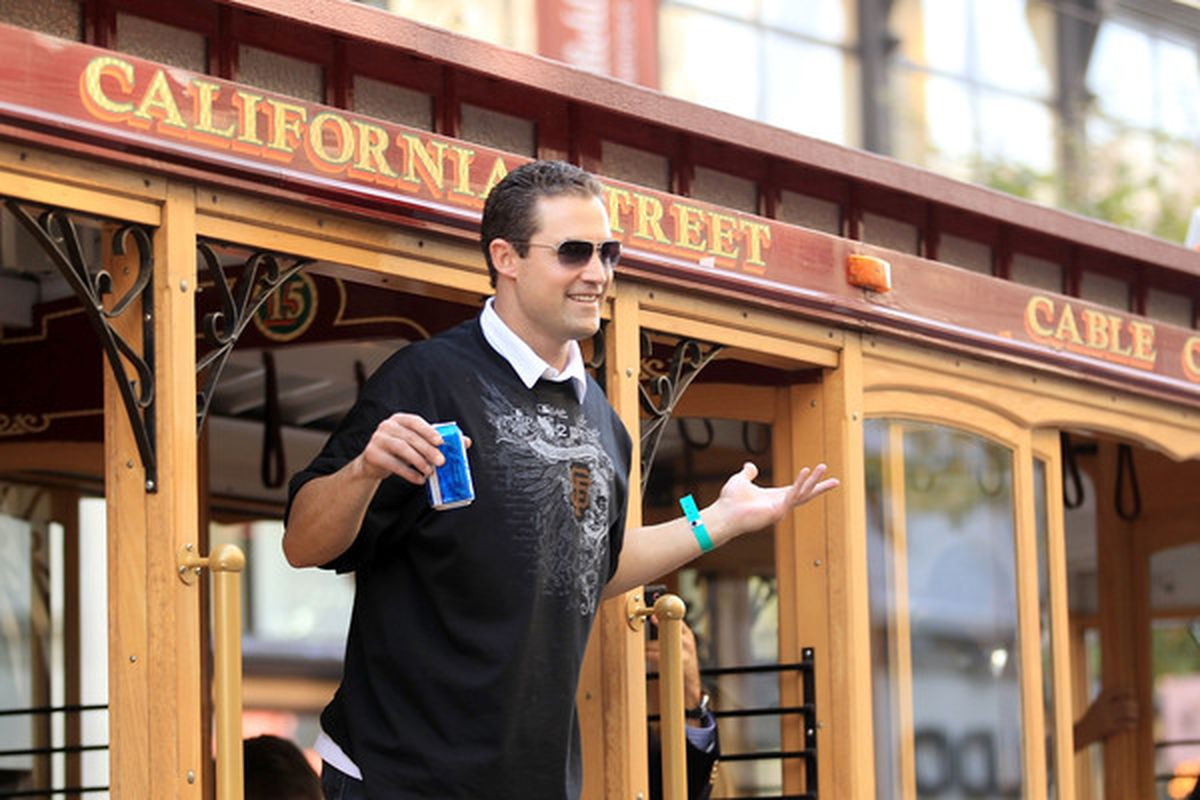 I'm still bummed about 2002 too, but who from that team would have chugged Bud Light at 11:00 a.m. on a cable car in the parade? Maybe this is how it was meant to be.