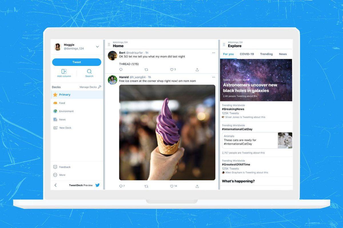 Tweetdeck redesign preview