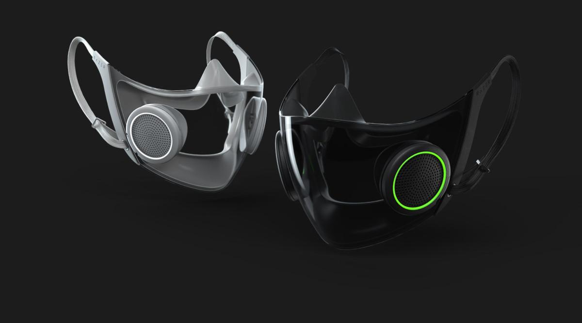 Razer mascarilla facial futurista