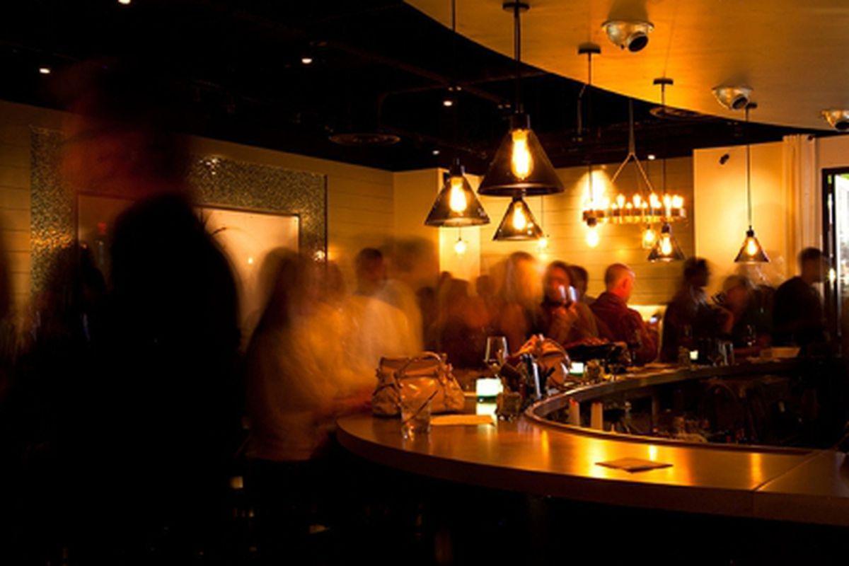 The bar at Latitude.