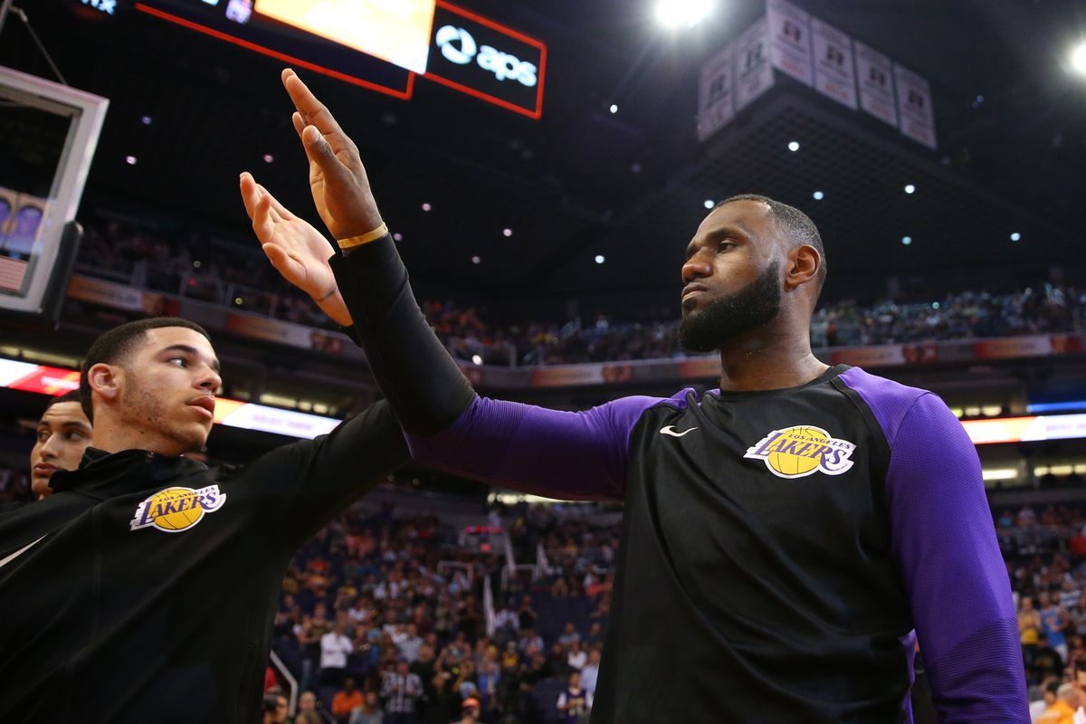 4c889f5fa04 Magic Johnson says the Lakers aren t going to trade LeBron James