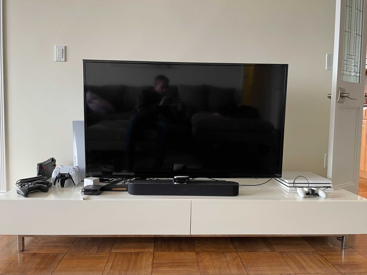 The PS5 in a home set-up.