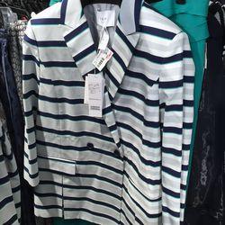 Striped jacket, $115 (was $575)