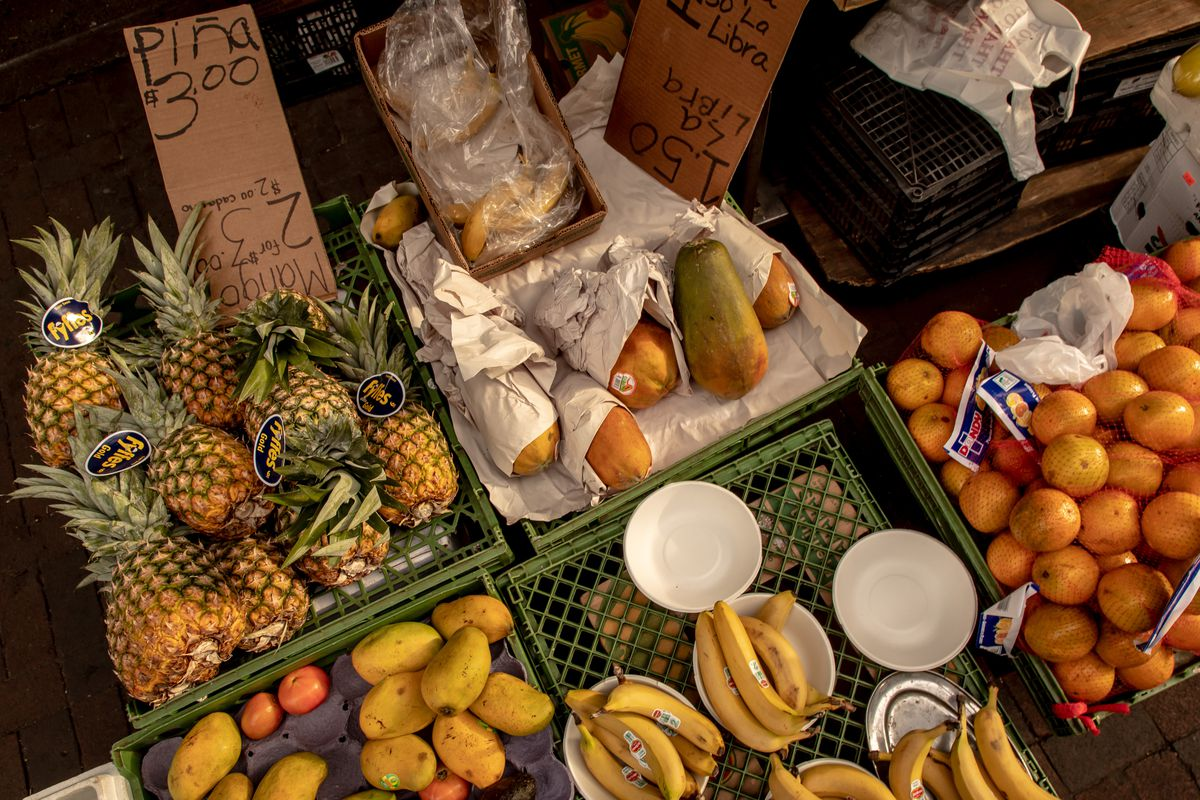 The selection of produce at Hernandez's stand