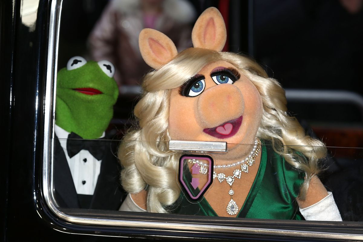 Kermit the Frog and Miss Piggy, in happier times.