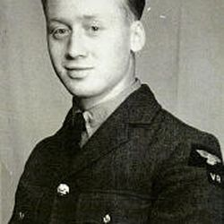 Leslie Norris is seen when he was 19 years old and in the Royal Air Force.