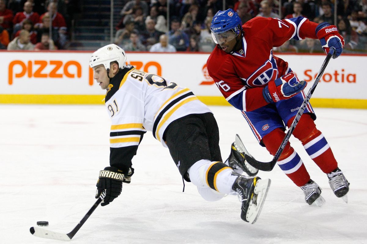 Have a nice trip, see you in the fall... Marc Savard takes a trip, courtesy of Malcolm Subban's brother