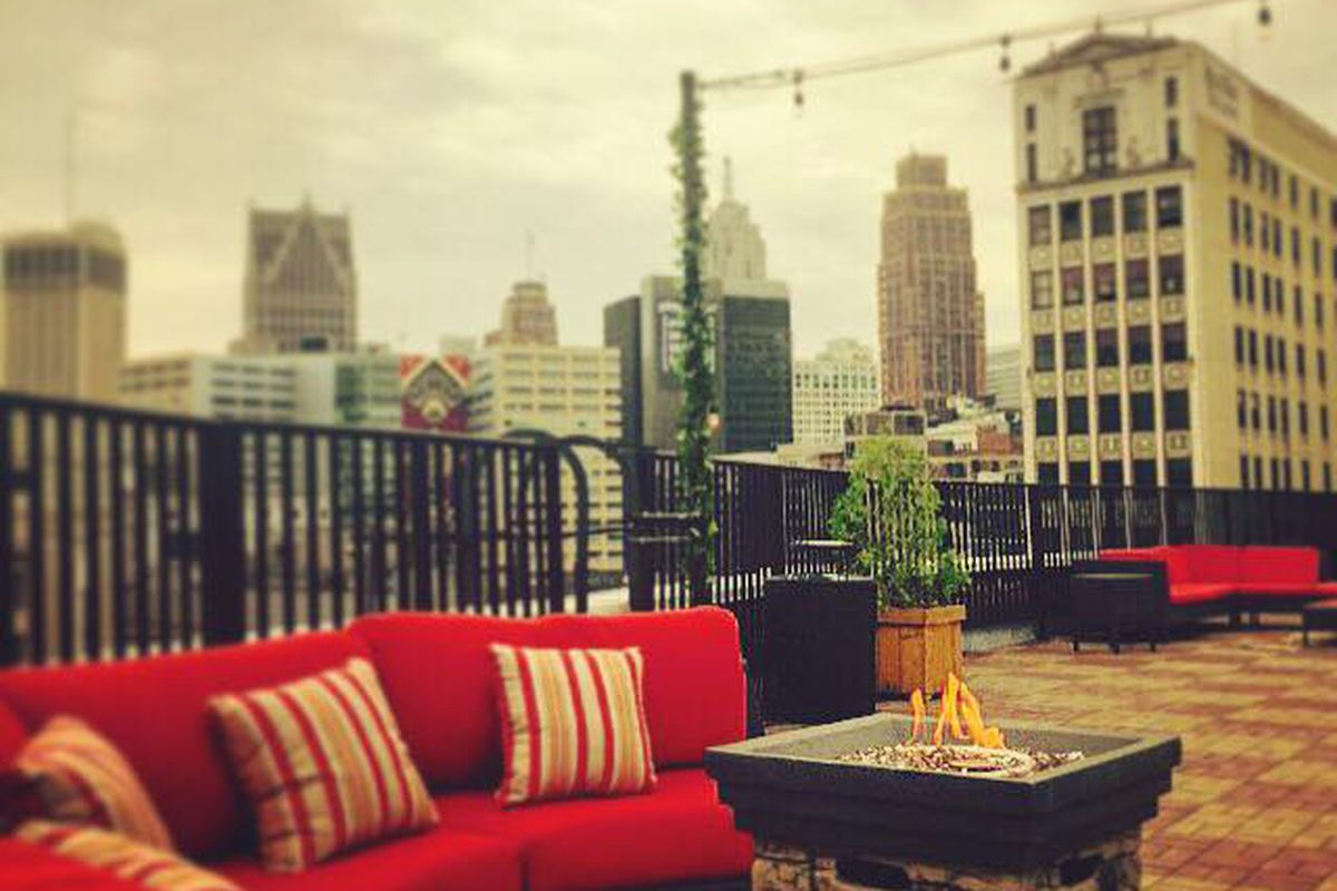 Sky Deck at the Detroit Opera House.