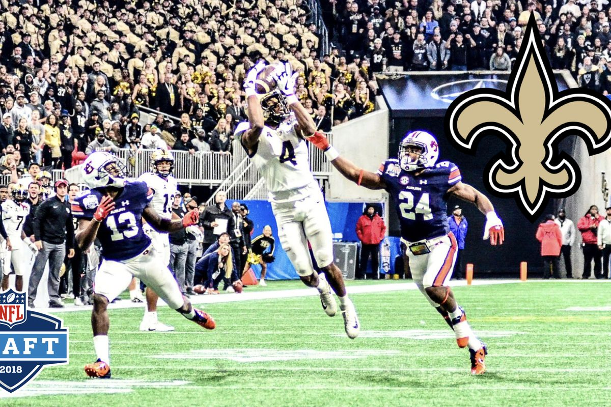 Tre'Quan Smith was drafted by the New Orleans Saints in the third round of the 2018 NFL Draft. (Photo: Derek Warden)