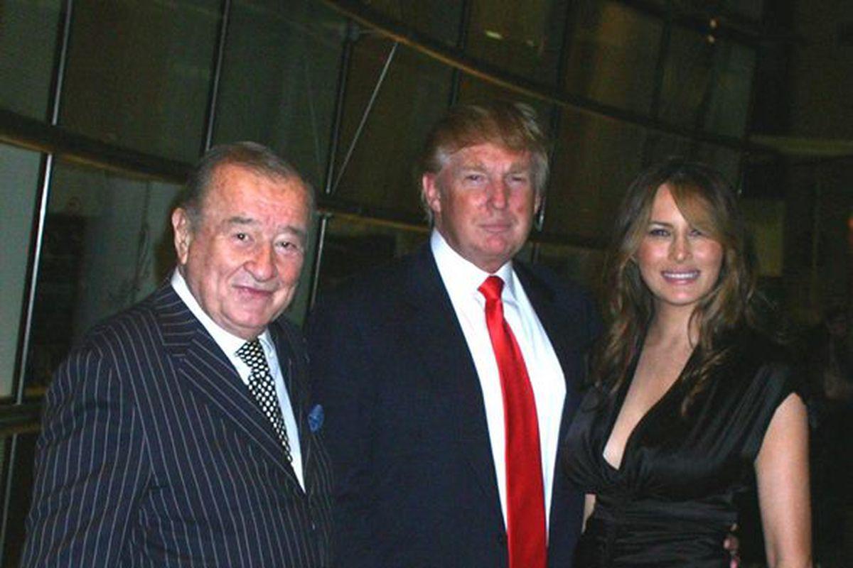 An old photo of Le Cirque owner Sirio Maccioni with Donald Trump and  Melania Trump Photo via Le Cirque/Facebook